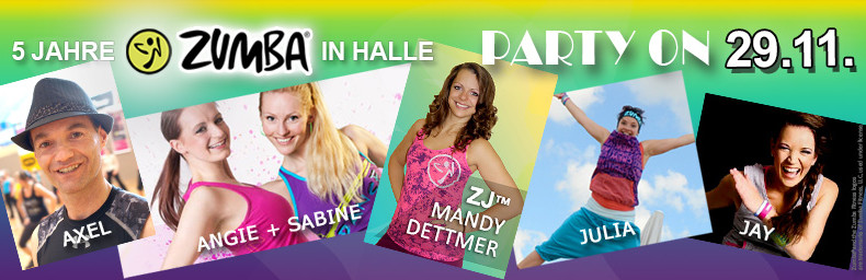 ZUMBA in Halle 5 Jahre Party on Instruktoren 2015 FB